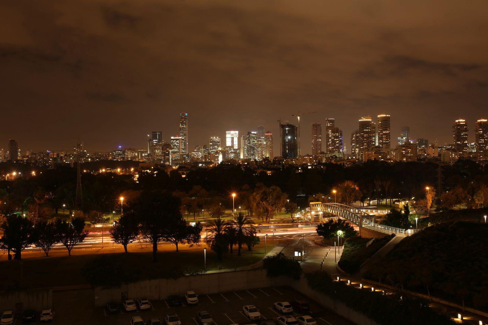 Tel Aviv Skyline at the IBM Alpha Zone Event